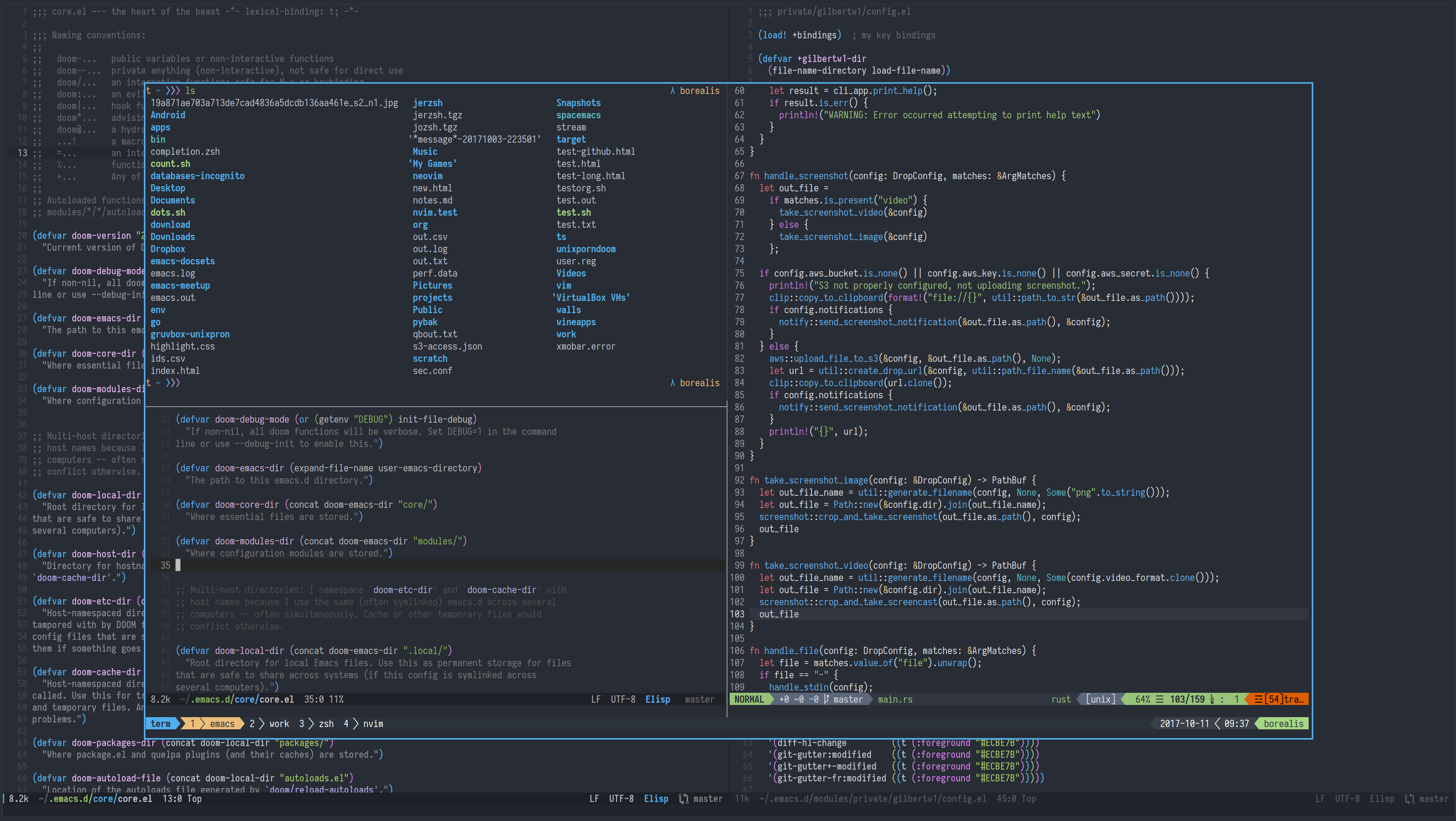 Can anyone recommend a consistent theme for iTerm2/Emacs/Vim